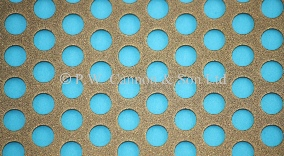 Bronze 6.35mm Round Hole Powder Coated Metal Sheet Grilles for use in Radiator Covers, Cabinets and as Screening Panels