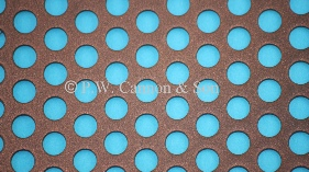 Copper Bronze 6.35mm Round Hole Powder Coated Metal Sheet Grilles for use in Radiator Covers, Cabinets and as Screening Panels