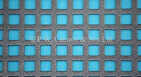 P.W. Cannon & Son Ltd - Pewter 6mm Square Hole Powder Coated Metal Sheets - Grilles for use in Radiator Covers, Cabinets and as Screening Panels