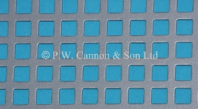 P.W. Cannon & Son Ltd - Silver 6mm Square Hole Powder Coated Metal Sheets - Grilles for use in Radiator Covers, Cabinets and as Screening Panels