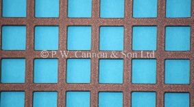 P.W. Cannon & Son Ltd - Copper Bronze 10mm Square Hole Powder Coated Metal Sheets - Grilles for use in Radiator Covers, Cabinets and as Screening Panels