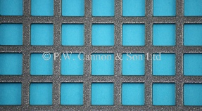 P.W. Cannon & Son Ltd - Pewter 10mm Square Hole Powder Coated Metal Sheets - Grilles for use in Radiator Covers, Cabinets and as Screening Panels