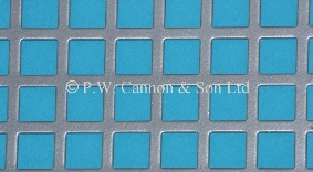 P.W. Cannon & Son Ltd - Silver 10mm Square Hole Powder Coated Metal Sheets - Grilles for use in Radiator Covers, Cabinets and as Screening Panels