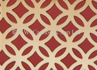 Brass Sheets Fancy Ring - Grilles for use in radaitor covers, cabinets or as screening panels