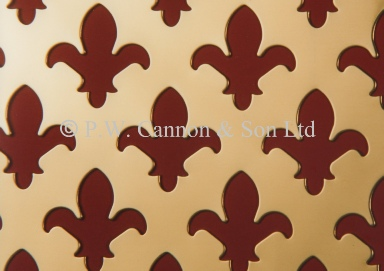 Brass Sheets Fleur de Lys - Grilles for use in radaitor covers, cabinets or as screening panels