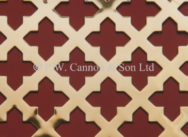 Brass Sheets Sword - Grilles for use in radaitor covers, cabinets or as screening panels