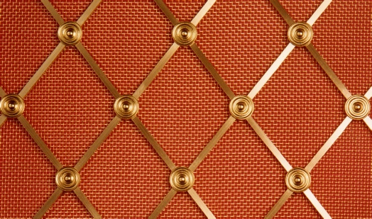 D41 Diamond Brass Grille for use in radiator covers, cabinets and as screening panels