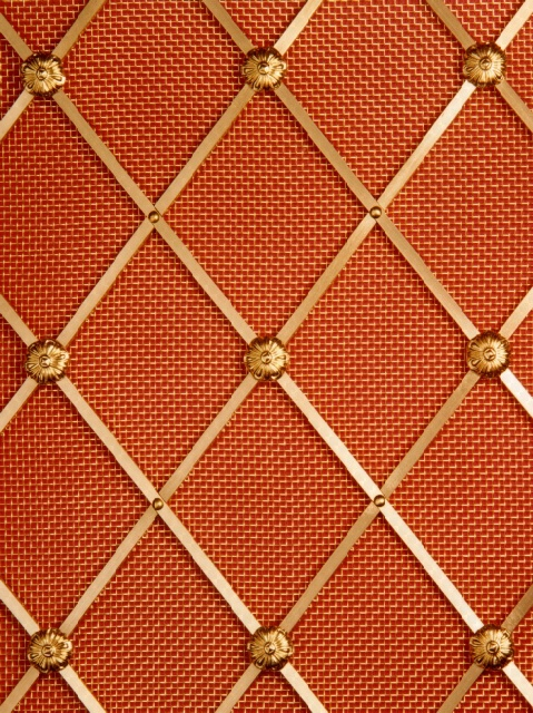 D55 Diamond Brass Grille for use in radiator covers, cabinets and as screening panels