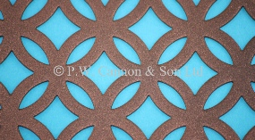 P.W. Cannon & Son Ltd - Copper Bronze Pattern No 14 Fancy Ring Powder Coated Metal Sheets for use in Radiator Covers, Cabinets and as Screening Panels