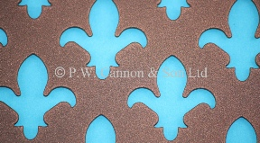 P.W. Cannon & Son Ltd - Copper Bronze Pattern No 9 Fleur de Lys Powder Coated Metal Sheets for use in Radiator Covers, Cabinets and as Screening Panels