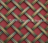 10mm Diamond 4.7mm Reeded Brass Hand Woven Grille