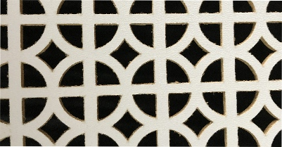 P.W. Cannon & Son Ltd - White Faced MDF Grilles for use in Radiator Covers, Cabinets and as Screening Panels