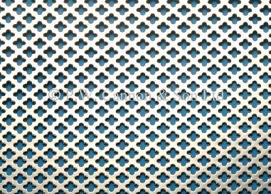 1020 Small Club 5 Nickel Plated Sheet - Grilles for use in radiator covers, cabinets and as screening panels
