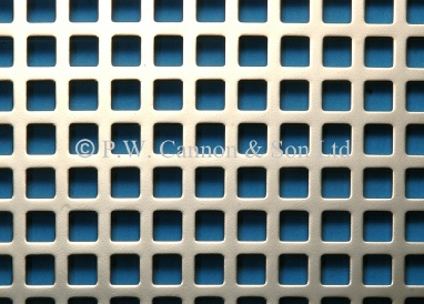 6mm Square Hole Nickel Plated Sheet - Grilles for use in radiator covers, cabinets and as screening panels