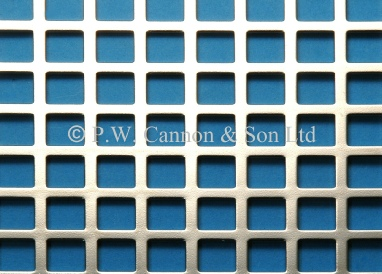 10mm Square Hole Nickel Plated Sheet - Grilles for use in radiator covers, cabinets and as screening panels