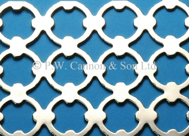 Pattern No 7 Nickel Plated Sheet - Grilles for use in radiator covers, cabinets and as screening panels