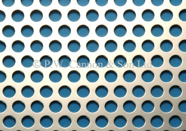 6.35mm Round Hole Nickel Plated Sheet - Grilles for use in radiator covers, cabinets and as screening panels
