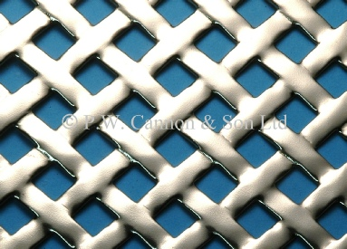 Woven Effect Nickel Plated Sheet - Grilles for use in radiator covers, cabinets and as screening panels
