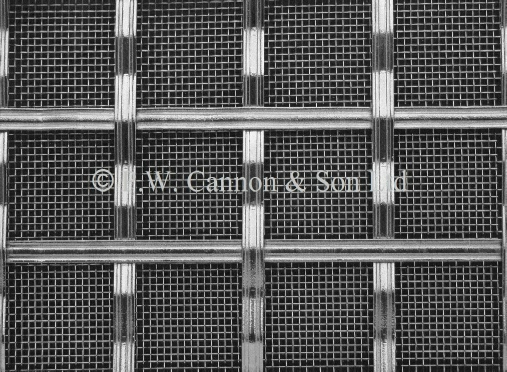 Woven Nickel Plated grille for use in radiator covers, cabinets and as screening panels