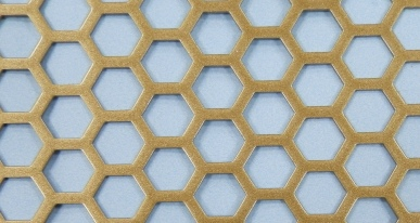 P.W. Cannon & Son Ltd - Antique Gold Pattern No 42 Powder Coated Metal Sheets - Grilles for use in Radiator Covers, Cabinets and as Screening Panels