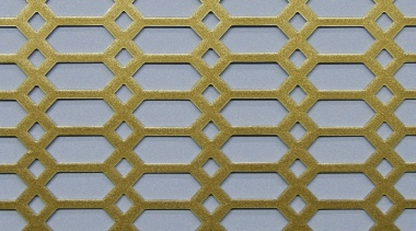 P.W. Cannon & Son Ltd - Antique Gold Pattern No 52 Powder Coated Metal Sheets - Grilles for use in Radiator Covers, Cabinets and as Screening Panels