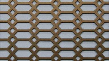 P.W. Cannon & Son Ltd - Copper Bronze Pattern No 52 Powder Coated Metal Sheets - Grilles for use in Radiator Covers, Cabinets and as Screening Panels