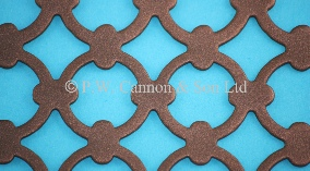 P.W. Cannon & Son Ltd - Copper Bronze Pattern No 7 Powder Coated Metal Sheets - Grilles for use in Radiator Covers, Cabinets and as Screening Panels
