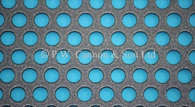 P.W. Cannon & Son Ltd - Pewter 6.35mm Round Hole Powder Coated Metal Sheets for use in Radiator Covers, Cabinets and as Screening Panels