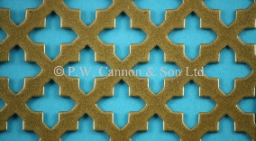 Antique Gold Small Sword Powder Coated Metal Sheet - Grilles for use in Radiator Covers, Cabinets and as Screening Panels