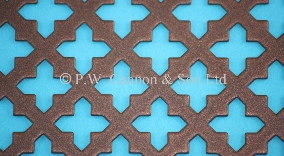 Copper Bronze Small Sword Powder Coated Metal Sheet - Grilles for use in Radiator Covers, Cabinets and as Screening Panels