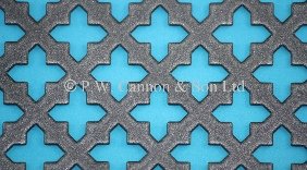 Pewter Small Sword Powder Coated Metal Sheet - Grilles for use in Radiator Covers, Cabinets and as Screening Panels