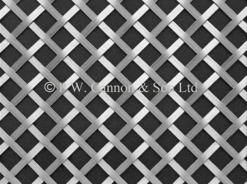 Woven Grille for use in radiator covers, cabinets and as screening panels