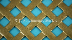 P.W. Cannon & Son Ltd - Antique Gold Woven Effect Powder Coated Metal Sheets - Grilles for use in Radiator Covers, Cabinets and as Screening Panels