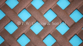 P.W. Cannon & Son Ltd - Copper Bronze Woven Effect Powder Coated Metal Sheets - Grilles for use in Radiator Covers, Cabinets and as Screening Panels