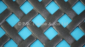 P.W. Cannon & Son Ltd - Pewter Woven Effect Powder Coated Metal Sheets - Grilles for use in Radiator Covers, Cabinets and as Screening Panels