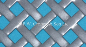 P.W. Cannon & Son Ltd - Silver Woven Effect Powder Coated Metal Sheets - Grilles for use in Radiator Covers, Cabinets and as Screening Panels