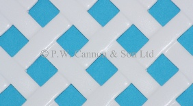 P.W. Cannon & Son Ltd - White Woven Effect Powder Coated Metal Sheets - Grilles for use in Radiator Covers, Cabinets and as Screening Panels